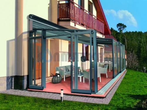 Павильон раздвижной универсальный Alukov Corso Glass