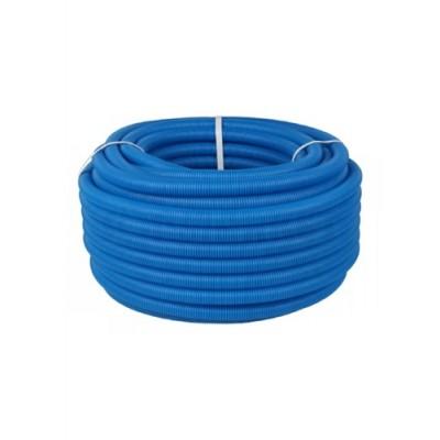 Труба гофрированная Дн 20 для трубы Дн 12-16 синяя бухта 50м