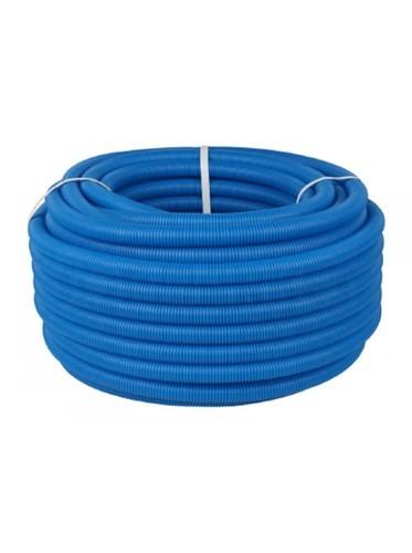 Труба гофрированная Дн 25 для трубы Дн 18-20 синяя бухта 50м