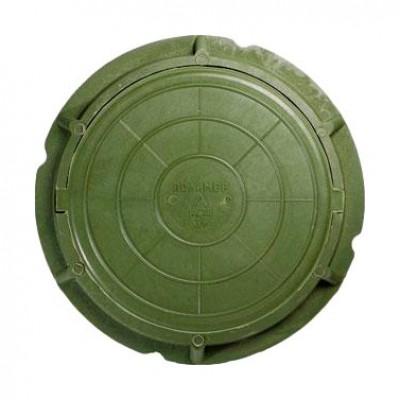 Люк полимерный легкий малый, 30 кН - зелёный