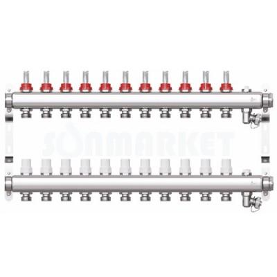 Коллекторная группа STI СМ11F в сборе с расходомерами (11 вых.)