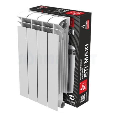 Биметаллический радиатор STI MAXI 500 100 4 секции