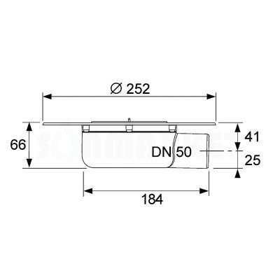 Сифон горизонтальный Дн 50 для террас и балконов TECEdrainpoint S
