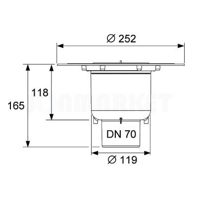 Сифон вертикальный Дн 70 TECEdrainpoint S
