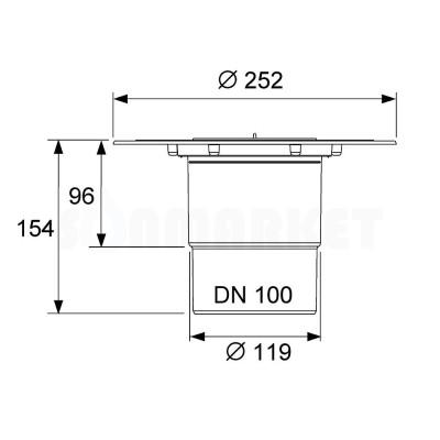 Сифон вертикальный Дн 100 TECEdrainpoint S