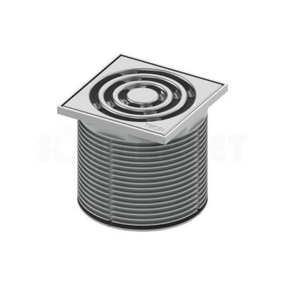 Решётка декоративная для душевого трапа S 100мм в пластиковой рамке с монтажным элементом TECEdrainpoint