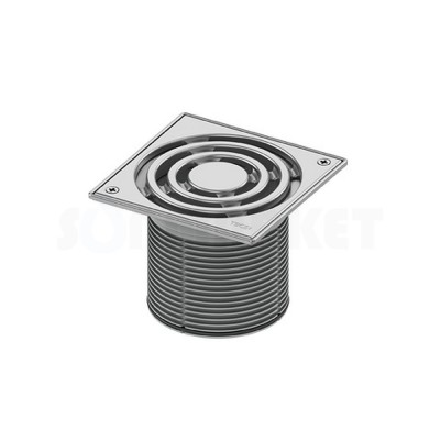 Решётка декоративная для душевого трапа S 150мм в стальной рамке с фиксаторами с монтажным элементом TECEdrainpoint