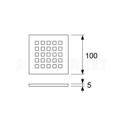 "Решётка декоративная для душевого трапа S ""quadratum"" 100мм TECEdrainpoint"