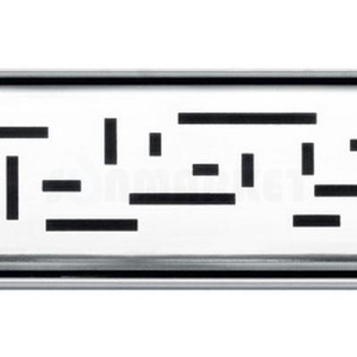 """Решётка """"lines"""" для душевого слива нержавеющая сталь полированная прямая 700мм TECEdrainline"""