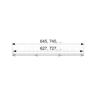 """Основа для плитки """"plate"""" для душевого слива нержавеющая сталь, прямая 700мм TECEdrainline"""