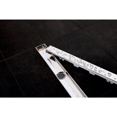 """Панель """"steel II"""" для душевого слива нержавеющая сталь, глянец, прямая 700мм TECEdrainline"""