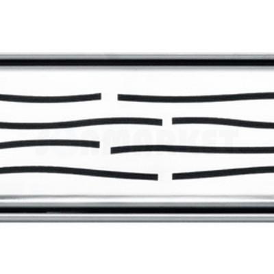 """Решётка """"organic"""" для душевого слива нержавеющая сталь полированная прямая 800мм TECEdrainline"""