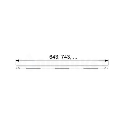 """Решётка """"drops"""" для душевого слива нержавеющая сталь матовая прямая 900мм TECEdrainline"""