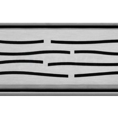"""Решётка """"organic"""" для душевого слива нержавеющая сталь матовая прямая 900мм TECEdrainline"""