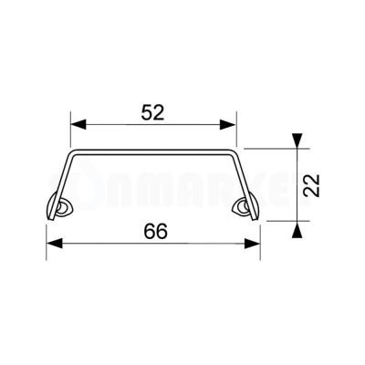 """Панель """"steel II"""" для душевого слива нержавеющая сталь, матовая, прямая 900мм TECEdrainline"""