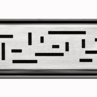 """Решётка """"lines"""" для душевого слива нержавеющая сталь матовая прямая 1000мм TECEdrainline"""