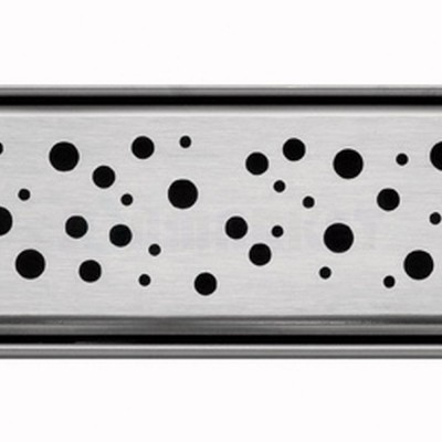 """Решётка """"drops"""" для душевого слива нержавеющая сталь матовая прямая 1000мм TECEdrainline"""