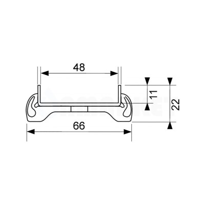 """Основа для плитки """"plate"""" для душевого слива нержавеющая сталь, прямая 1000мм TECEdrainline"""