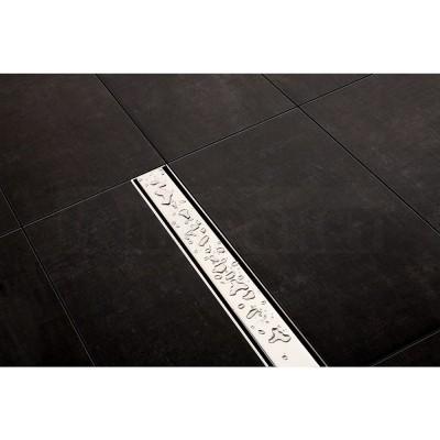 """Панель """"steel II"""" для душевого слива нержавеющая сталь, полированная, прямая 1000мм TECEdrainline"""
