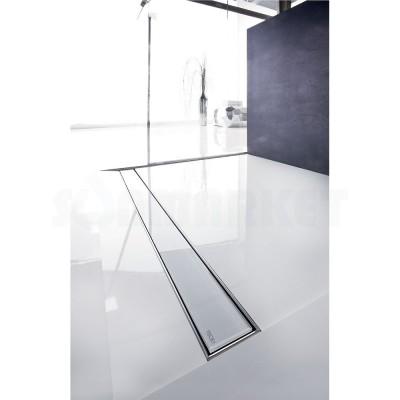 """Панель стеклянная для душевого слива """"белое стекло"""" 1000мм TECEdrainline"""