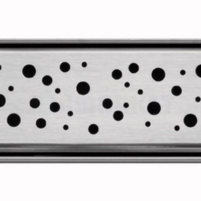 """Решётка """"drops"""" для душевого слива нержавеющая сталь матовая прямая 1200мм TECEdrainline"""
