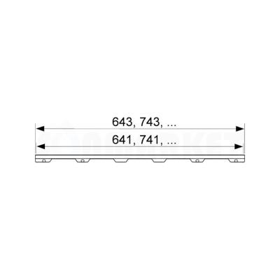 """Основа для плитки """"plate II"""" для душевого слива нержавеющая сталь, прямая 1200мм TECEdrainline"""