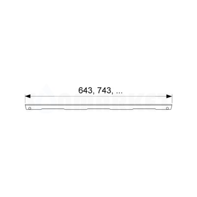 """Решётка """"basic"""" для душевого слива нержавеющая сталь матовая прямая 1500мм TECEdrainline"""