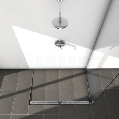 """Решётка """"quadratum"""" для душевого слива нержавеющая сталь полированная прямая 1500мм TECEdrainline"""