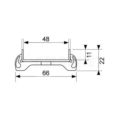 """Основа для плитки """"plate"""" для душевого слива нержавеющая сталь, прямая 1500мм TECEdrainline"""