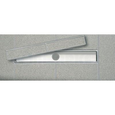 """Основа для плитки """"plate II"""" для душевого слива нержавеющая сталь, прямая 1500мм TECEdrainline"""