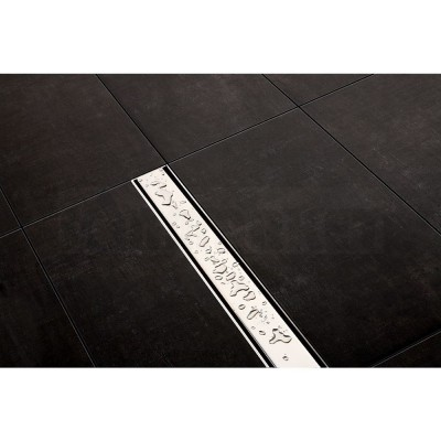 """Панель """"steel II"""" для душевого слива нержавеющая сталь, матовая, прямая 1500мм TECEdrainline"""