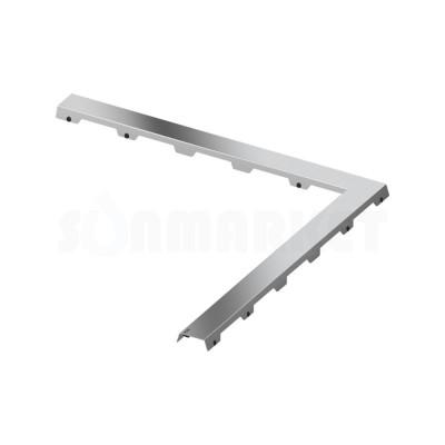 """Панель """"steel II"""" для душевого слива нержавеющая сталь, угловая 900 х 900мм TECEdrainline"""