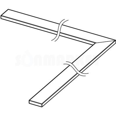 """Панель """"steel II"""" для душевого слива нержавеющая сталь, угловая 1000 х 1000мм TECEdrainline"""