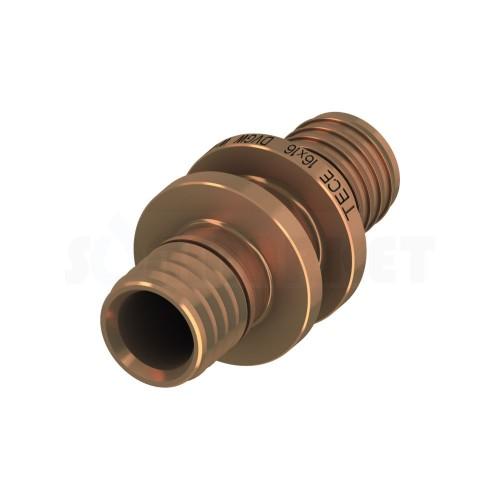 Муфта для PE-X проходная бронза Дн 40 х 40 TECEflex