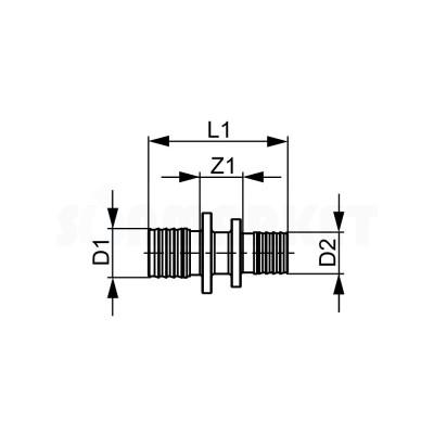 Муфта для PE-X редукционная бронза Дн 25 х 20 TECEflex