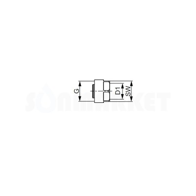 """Евроконус для труб PE-Xc Дн 16 х 3/4"""" TECEflex"""