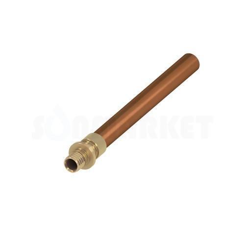Переходник с PE-X на медную трубу под пайку медь/латунь Дн 16 х 15мм TECEflex