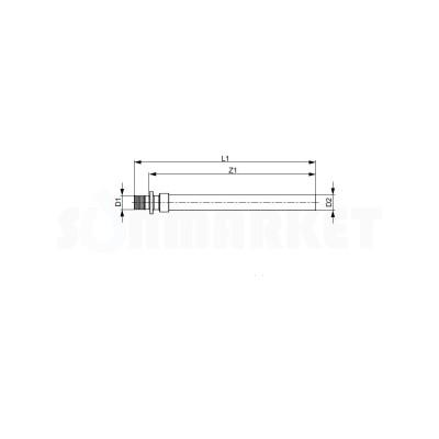 Переходник с PE-X на медную трубу под пайку медь/латунь Дн 20 х 18мм TECEflex