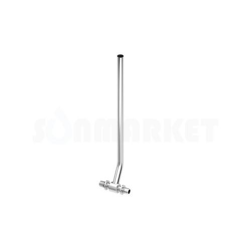 Тройник для PE-X с никелированной трубкой для подключения радиатора Дн 14 х15мм L 700мм TECEflex