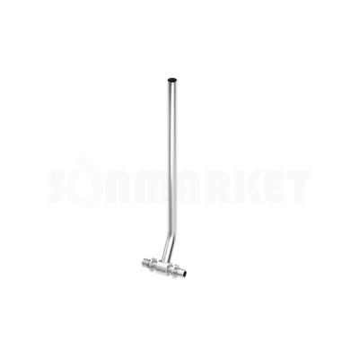 Тройник для PE-X с никелированной трубкой для подключения радиатора Дн 16 х 15мм х Дн 16 L 1100мм TECEflex
