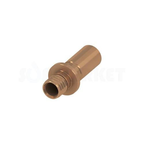 Переходник с PE-X на медные/стальные трубы бронза Дн 25 х 22 мм TECEflex