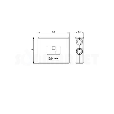 Защитный короб для тройника двойного с обводом TECEflex