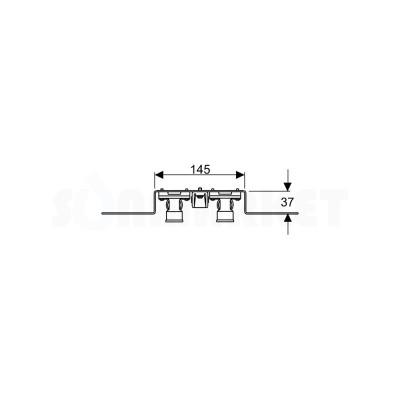 """Водорозетка для PE-X в комплекте с держателем для фанового отвода бронза межцентровое расстояние 80мм Дн 16 х Rp 1/2"""" TECEflex"""