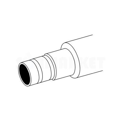Труба композитная PE-Xc/Al/PE-RT предварительно изолированная красная Дн 16 х 2.75 Ру 10 бар Тмакс 90С бухта 75м TECEflex