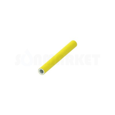 Труба металлопластиковая PE-Xc/Al/PE-RT для газоснабжения жёлтая Дн 16 х 2.75 бухта 100м TECEflex