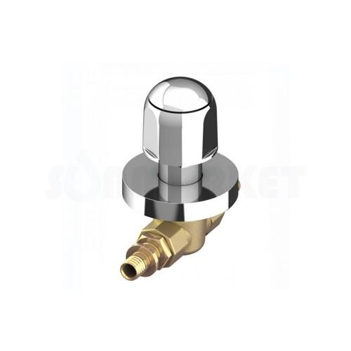 Кран шаровой проходной для PE-X латунный с декоративной рукояткой округлой Дн 16 х 16 TECEflex