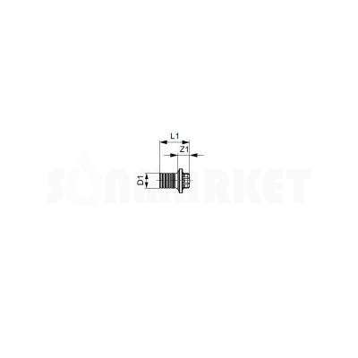 Заглушка под PE-X латунь Дн 14 TECEflex