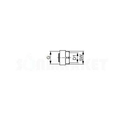 """Евроконус для труб PE-Xc Дн 18 х 3/4"""" TECEflex"""