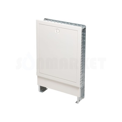 Шкаф коллекторный встраиваемый сталь белый тип 1030 Ш х В 1030 х 790мм 12 контуров TECEfloor