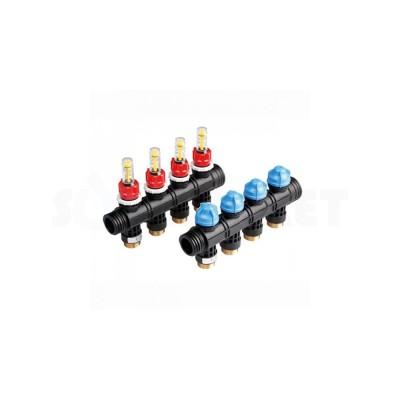 Коллекторная группа пластиковая для тёплого пола 4 контура TECEfloor